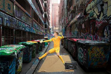 Breakdancing Goalie Manipulations - Photoshop Turns FIFA World Cup Goalie Saves into Dances