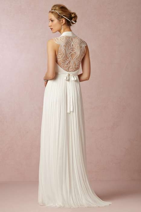 Timeless Sheath Wedding Dresses - The BHLDN Fall 2014 Bridal Collection is Flowy and Feminine