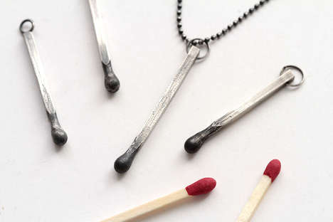 Silver Matchstick Necklaces - SunGalleryandGifts