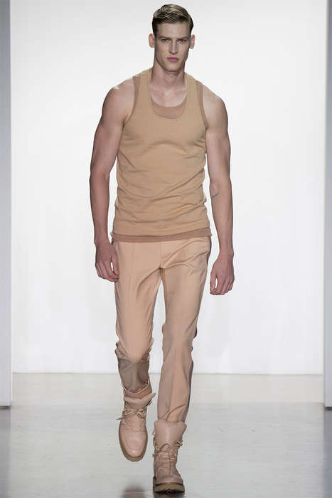 Minimalist Military Menswear - The Calvin Klein Collection Spring/Summer 2015 Show Exudes Power