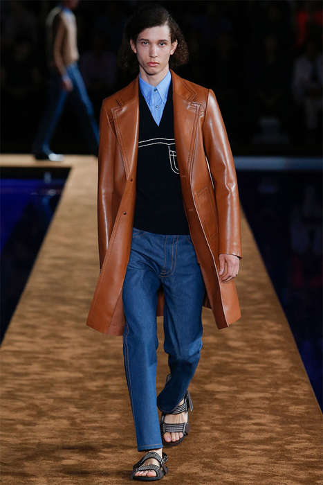 70s Gentleman Runways - The Prada Spring/Summer 2015 Collection is Retro-Infused