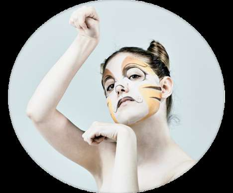 Feline Face Masks - These Japanese Face Masks Resemble the Felines from the Musical