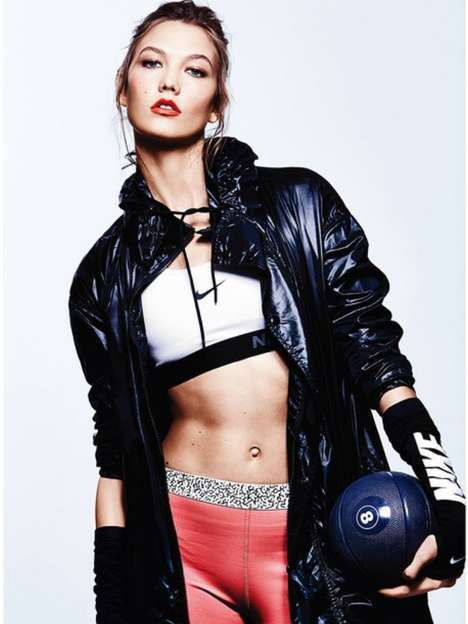 Edgy Sporty Editorials - The ELLE US