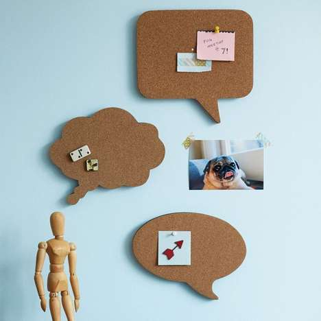 Speech Bubble Boards - The Talk Corkboard is Great for Leaving Important Messages