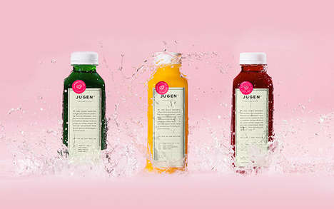Invigorating Health Branding - The Jugen Design Initiative Utilizes a Vintage Aesthetic