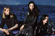 Dark Autumn Fashion Ads - The Salvatore Ferragamo Fall 2014 Ads are Psychedelically Seductive