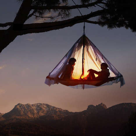 Levitating Cliff Tents - The Hanging Cliff Cabana is the Perfect Place to Relax in the Trees