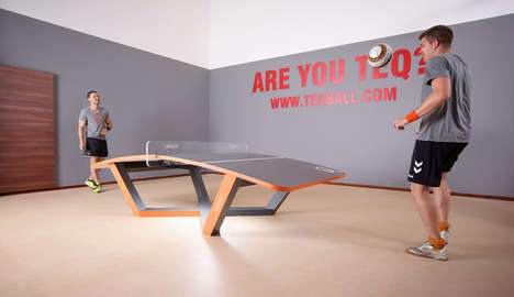 Hi-Tech Table Sports - Teqball is a Table-Based Game That Fuses Ping-Pong and Soccer