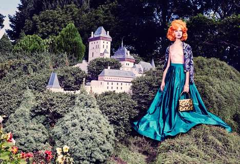 Fantasy Wonderland Editorials - The FGR Exclusive Editorial Mixes Modern and Retro Styles