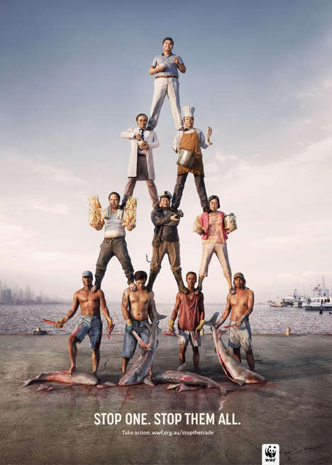 Illicit Trade Pyramid Ads - These WWF Ads Show the Illegal Animal Trade Pyramid of Demand