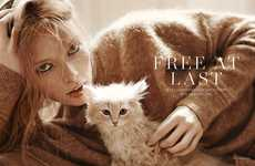 Languid Feline Fashion - The Scandivinavia S/S/A/W 'Free at Last' Editorial Stars Julia Hafstrom