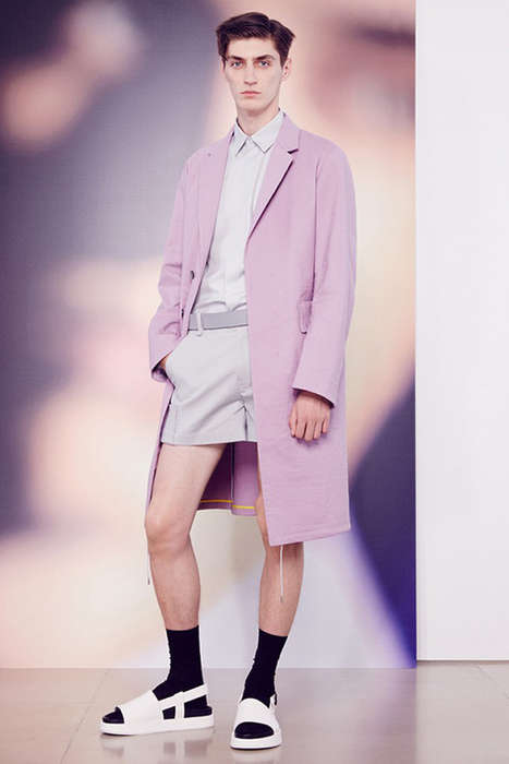 Minimalistic Pastel Menswear - The Jil Sander SS 2015 Features Bright Hues and Simplicity