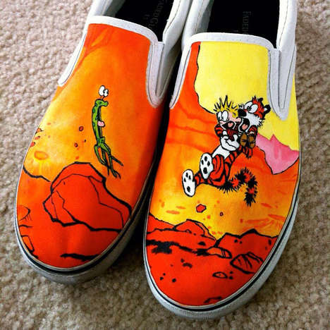 Artisanal Canvas Kicks - These Hand-Painted Shoes are Sure to Grab Some Positive Attention