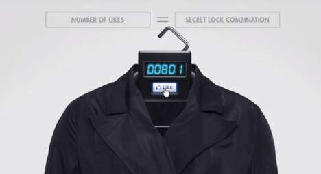 Locked Social Media Hangers - This C&A Fashion Stunt