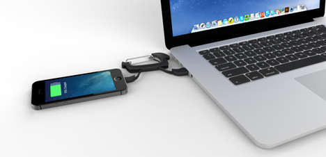 Utility Clip Chargers - The NomadClip Charge Cable Looks Like a Carabiner Clip