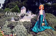 Glam Giant Editorials - The Fashion Gone Rogue 'Graceland' Photoshoot Stars a 50-Foot Model
