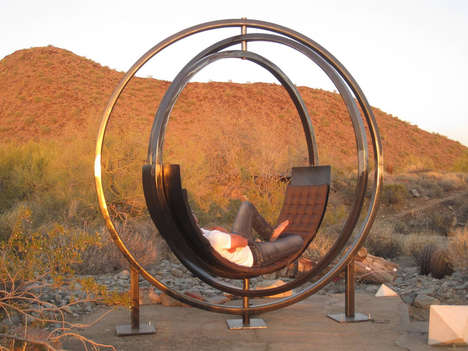Globular Desert Loungers - The Etazin Lounge Chair is a Desert Oasis in Itself