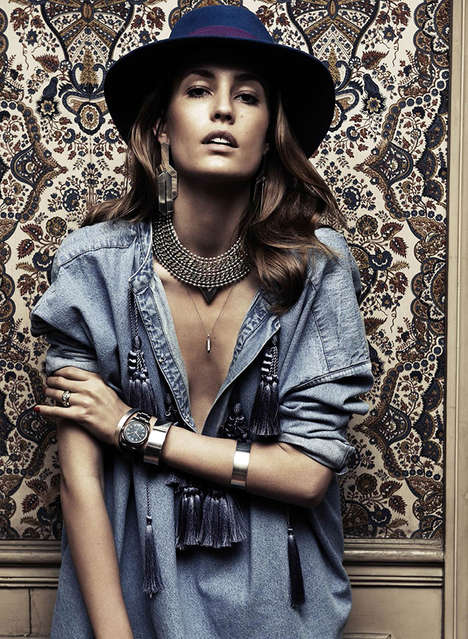 Chambray Jewelry Campaigns - Nadja Bender Stars in