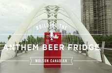 Molson's National Anthem Beer Fridge Makes You Sing for a Drink