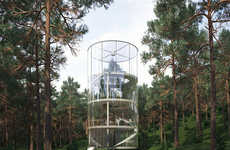Meditative Treehouse Structures - This Glass Tree House is the Perfect Spot for Meditation