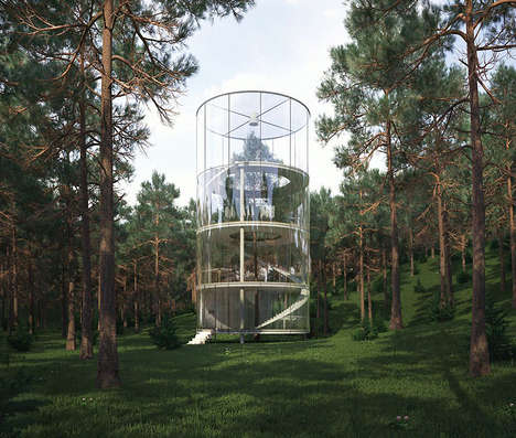 glass tree house