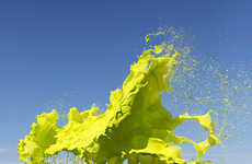 Splashing Paint Photography - Clourant by Floto+Warner Studio is Full of Surreal Vibrancy