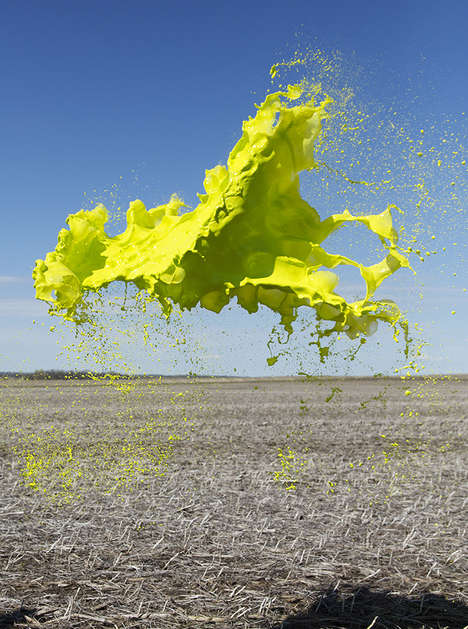 Floating Paint Photography - These Colorful Liquid Splashes are Caught in Midair