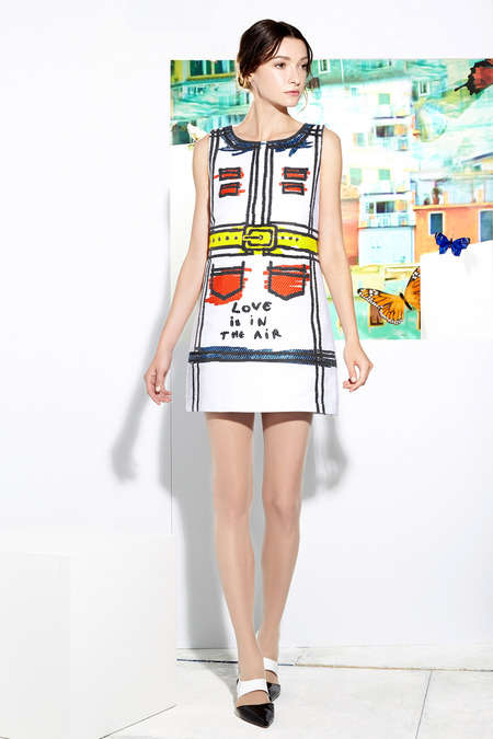 Youthful Primary Collections - Alice + Olivia Resort 2015 Boasts a Youthful Playfulness