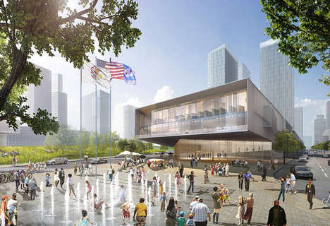 Tranparent Presidential Libraries - HOK Presents a Plan for the Barack Obama Library in Chicago