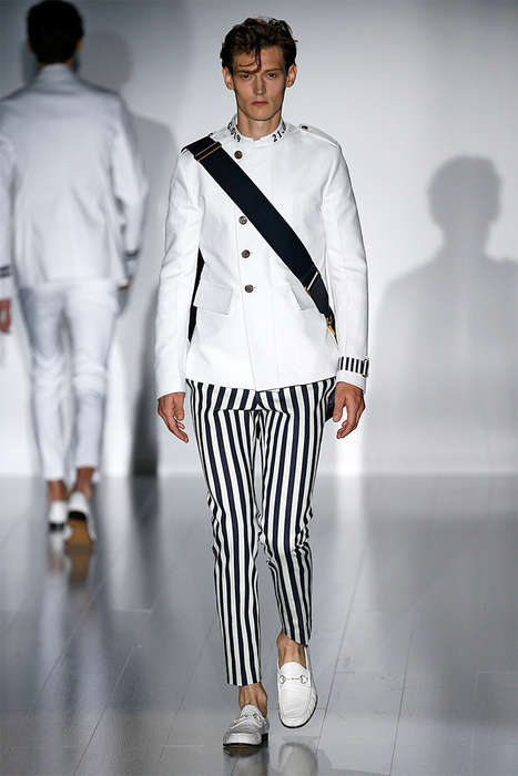 Contemporary Sailor Runways - The Gucci Spring/Summer 2015 Collection is Nautical-Themed