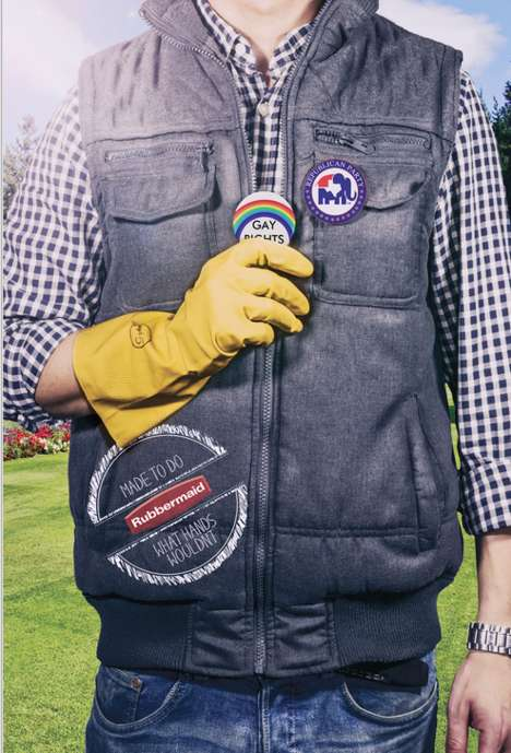 Social Activism Glove Ads - The Rubbermaid Gay Rights Campaign is in Time for World Pride