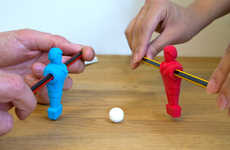 Foosball Pencil Toys - The Foosball Pencil Eraser Design by Suck UK is Fun and Functional