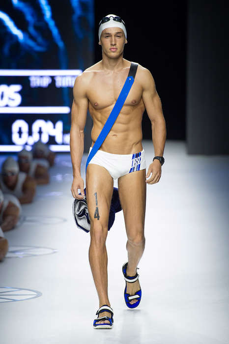 Sleek Scuba Diver Runways - The Dirk Bikkemberg Spring/Summer 2015 Collection is Sporty