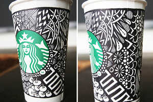 Starbucks' White Cup Contest Challenged Customers to Make Art on Cups
