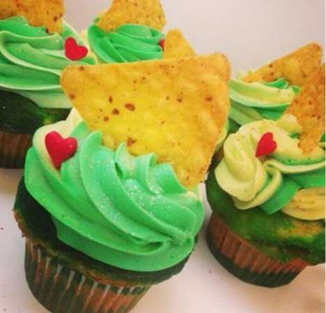 Tortilla-Topped Cupcakes - YouTube Star Rosanna Pansino Made Doritos and Dew Cupcakes