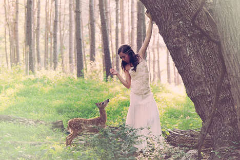 Whimsical Fawn Portraits - This Fawn Photo Series is Sweet and Poignant