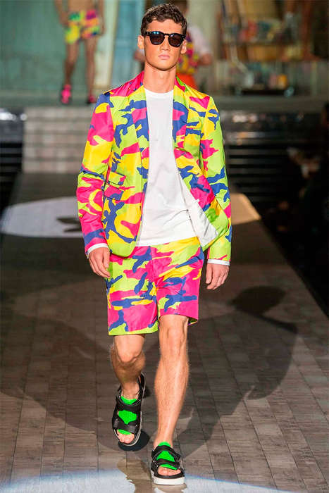 Chromatic Kaleidoscope Runways - The Dsquared2 Spring/Summer 2015 Collection is Pop Art Themed