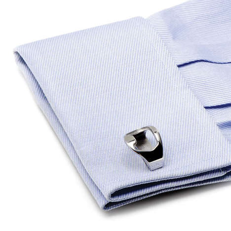 Bottle-Opening Cufflinks - Bottle Opener Cufflinks Help Polish Your Look and Polish Off Your Bottle