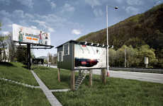 House-Converted Billboards - DesignDevelop Turns Ads into Shelters for the Homeless