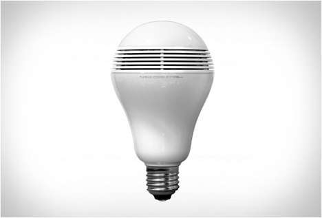 Bulbous Speaker Systems - The PlayBulb BlueTooth Light Bulb Doubles Up as a Bulb and a Speaker