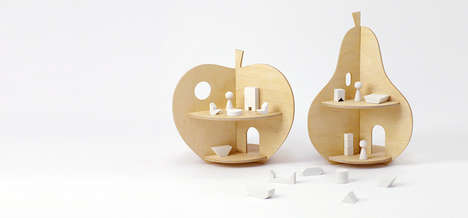 Fruit-Shaped Doll Houses - These Apple and Pear House Designs from Rock and Pebble are Imaginative