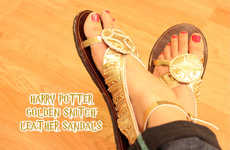 These Homemade Harry Potter Shoes Were Inspired by the Golden Snitch