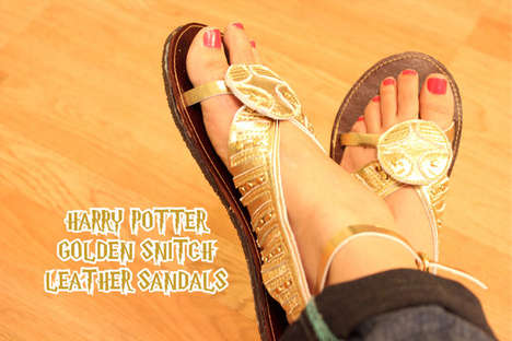 Wizardly Sport Sandals - These Homemade Harry Potter Shoes Were Inspired by the Golden Snitch