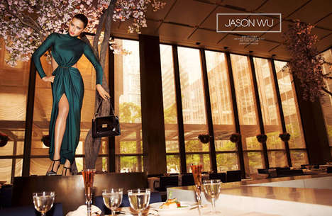 Glam Feline Fashion Ads - The Jason Wu AW14 Campaign Stars a Leggy Adriana Lima