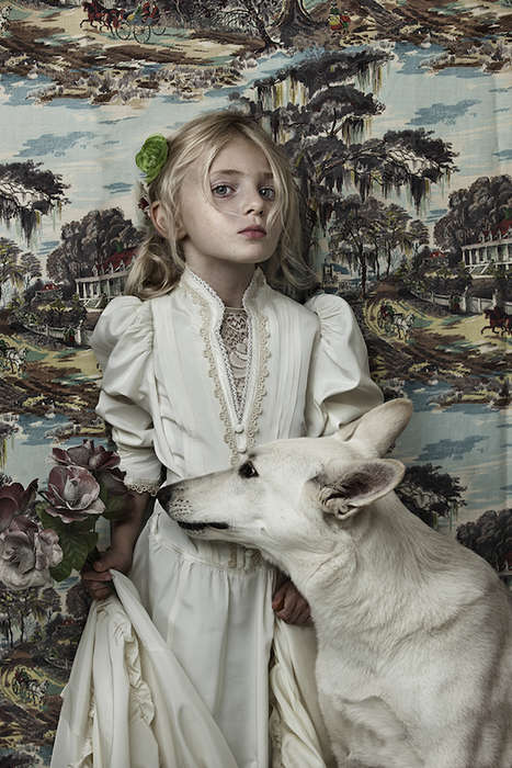 Stylized Kid-Pet Photography - Animal Child by Shelly Mosman Boasts Bold Wallpaper and Costumes