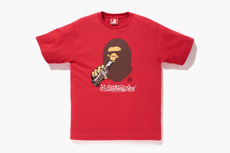 Iconic Cola Collections - The Bathing Ape Coca-Cola Collection Features a Thirsty Primate