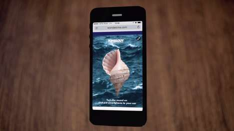 Virtual Seashell Ads - TONI&GUY;'s Sea Salt Hair Spray Ad Lets You Hear the Beach Through Your Phone