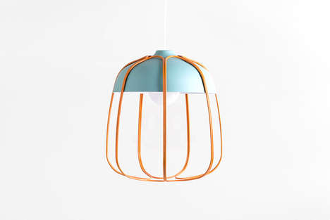 Bird Cage-Like Lamps - Tommaso Caldera Designs the Tull Lamp