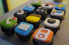 Edible Mobile App Icons - iPhone Cupcakes