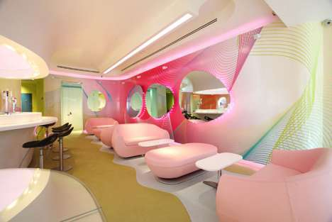 Pink Retro Restaurants - Kurve by Karim Rashid